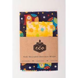 Living Eco Kids Reusable Beeswax Wraps