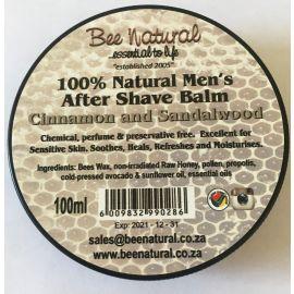 Bee Natural Aftershave Balm - Cinnamon & Sandalwood
